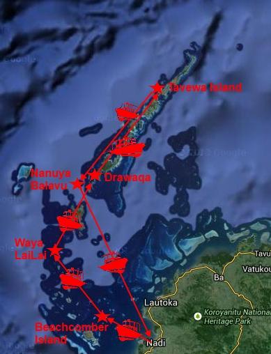 Maps Fiji